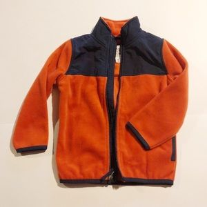 Rustic Orange Fleece Jacket